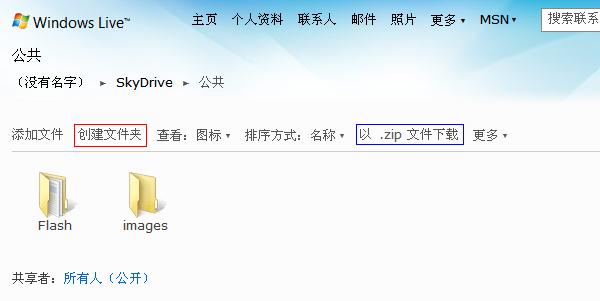 SkyDrive图片外链方法